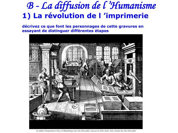B - La diffusion de l'Humanisme