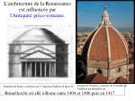 l architecture de la renaissance est influenc e par l antiquit gr co romaine