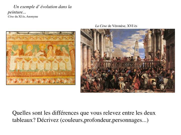 Un exemple d'évolution dans la peinture...