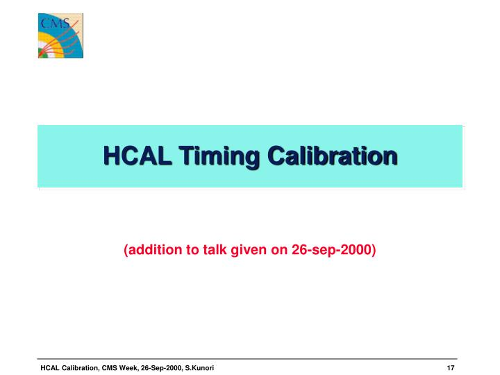 HCAL Timing Calibration