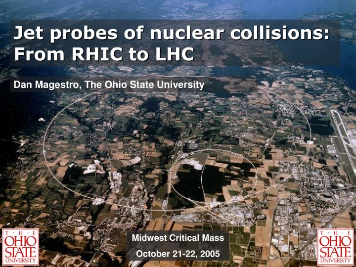 Jet probes of nuclear collisions: From RHIC to LHC