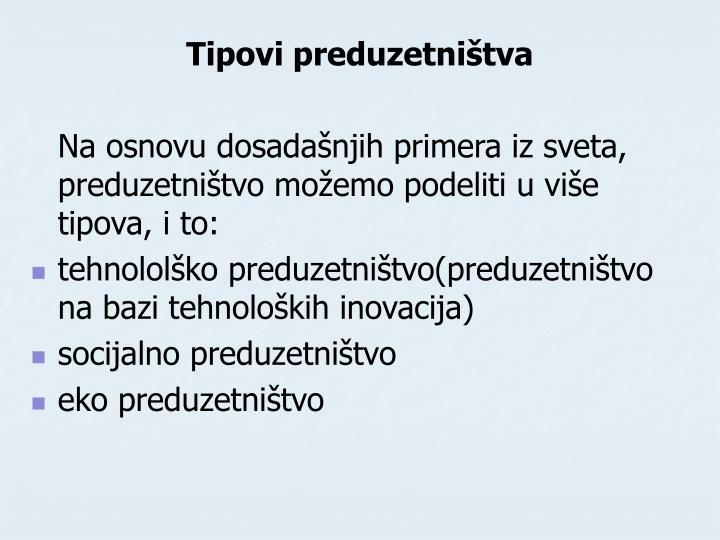 Tipovi preduzetništva