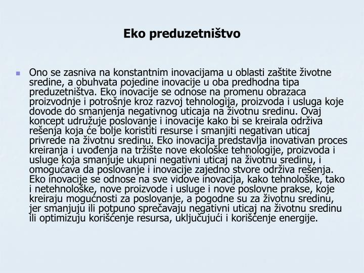 Eko preduzetništvo