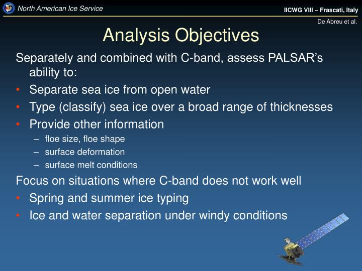 Analysis Objectives