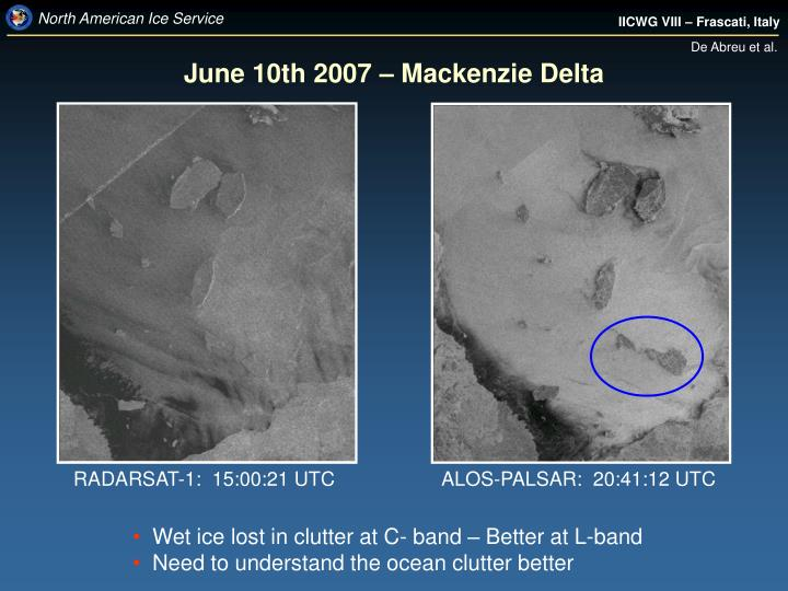 June 10th 2007 – Mackenzie Delta