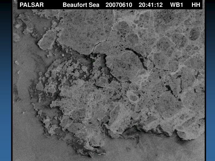 PALSAR Beaufort Sea20070610    20:41:12WB1HH