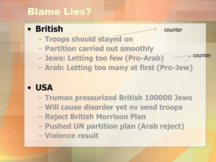 Blame Lies?