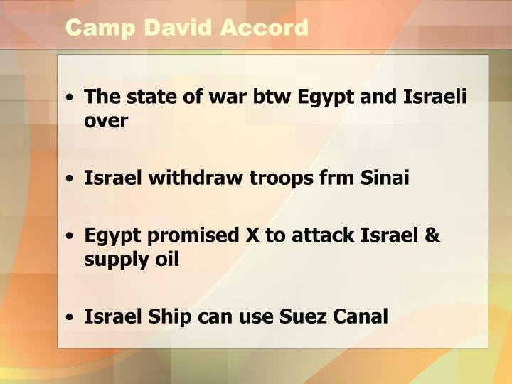Camp David Accord
