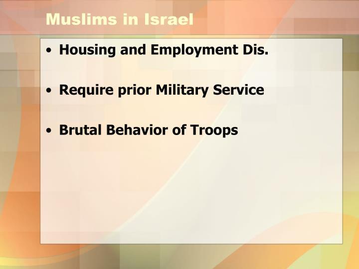 Muslims in Israel