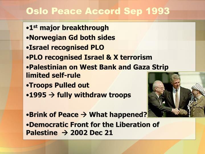 Oslo Peace Accord Sep 1993