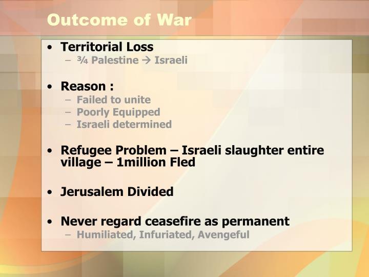 Outcome of War