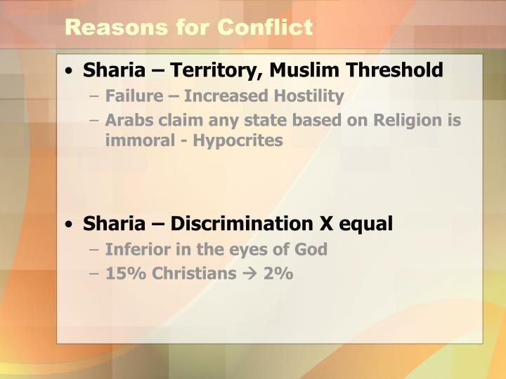 Reasons for Conflict