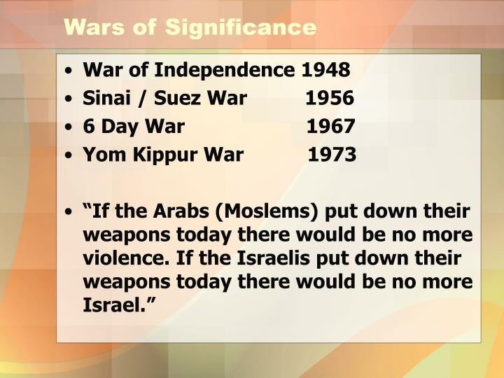 Wars of Significance