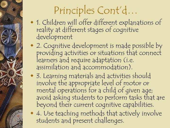 Principles Cont'd…