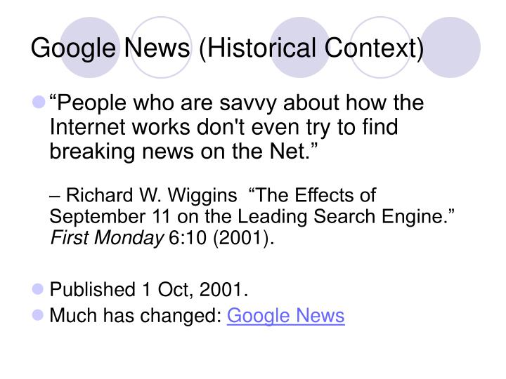 Google News (Historical Context)