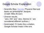 google scholar explanation