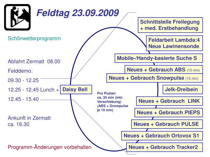 Feldtag 23.09.2009