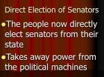 direct election of senators