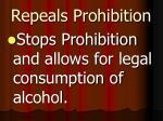 repeals prohibition