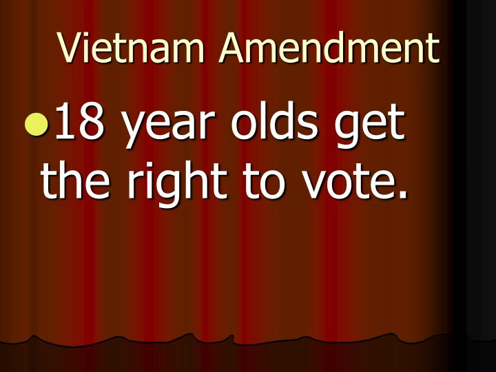 Vietnam Amendment