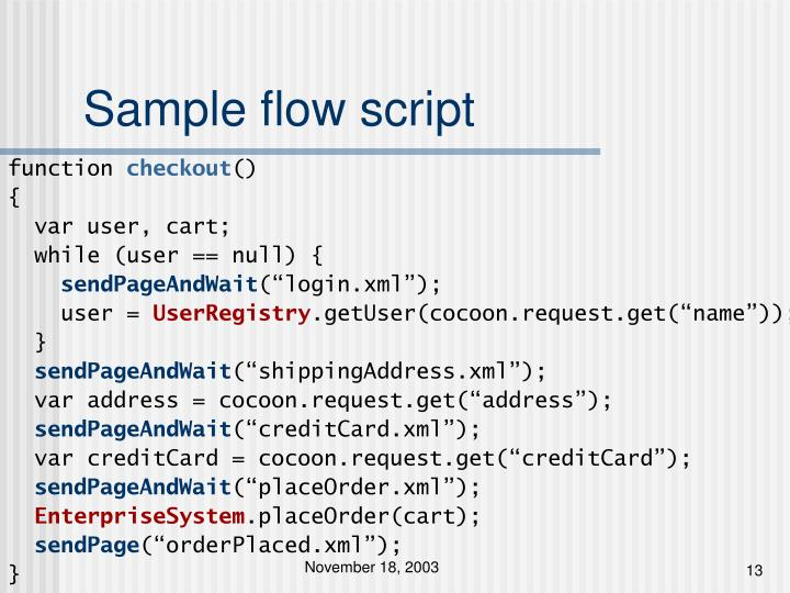 Sample flow script