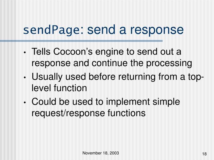 sendPage