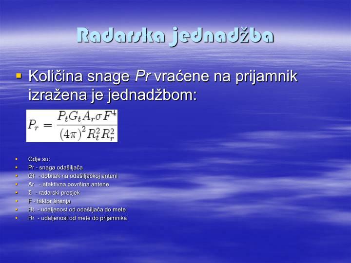 Radarska jednadžba