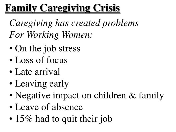 Family Caregiving Crisis