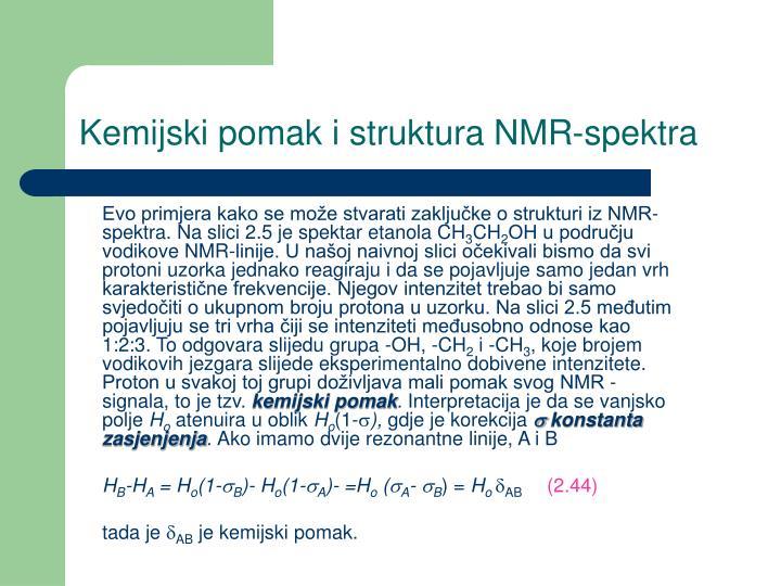 Kemijski pomak i struktura NMR-spektra