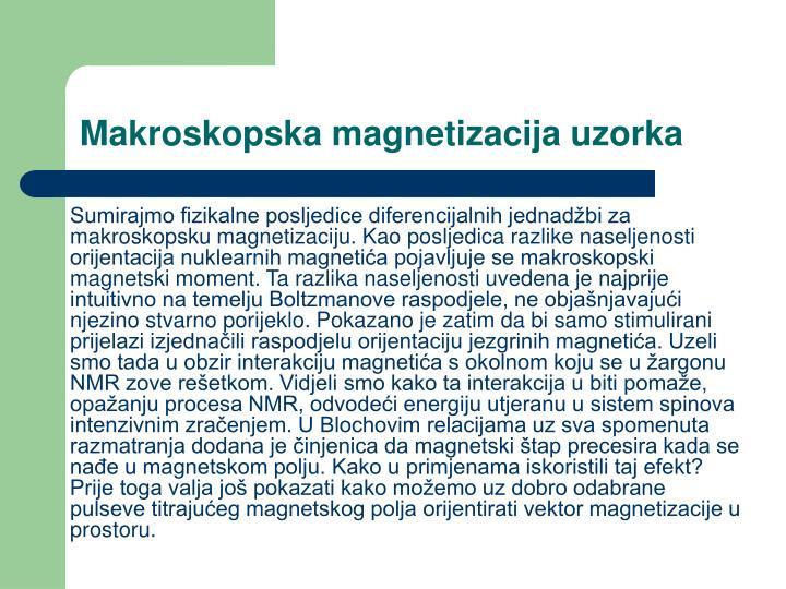 Makroskopska magnetizacija uzorka