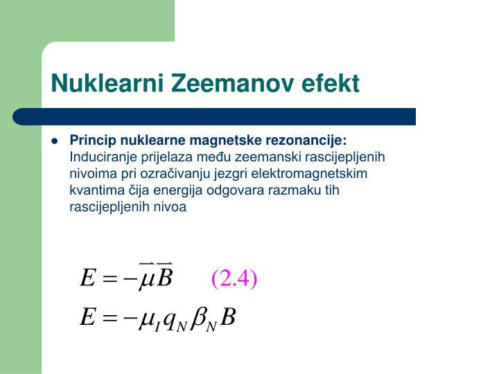 Nuklearni Zeemanov efekt