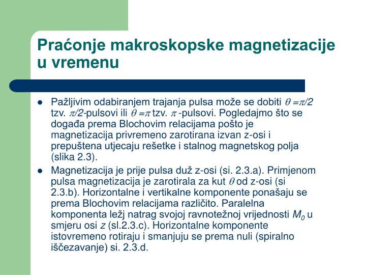 Praćonje makroskopske magnetizacije u vremenu
