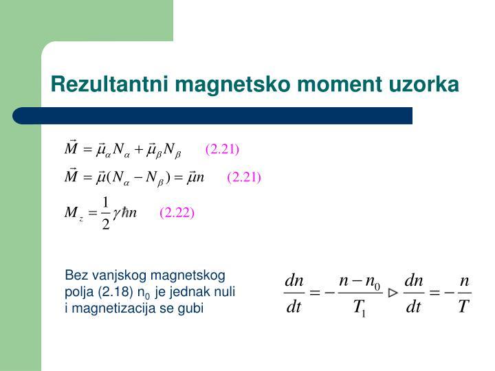 Rezultantni magnetsko moment uzorka