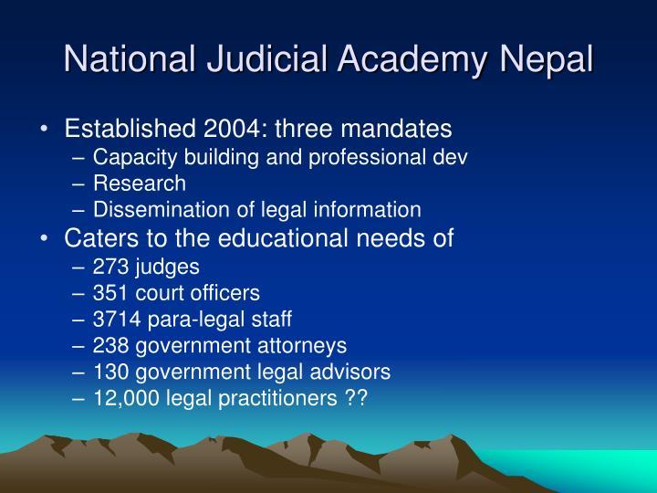 National Judicial Academy Nepal