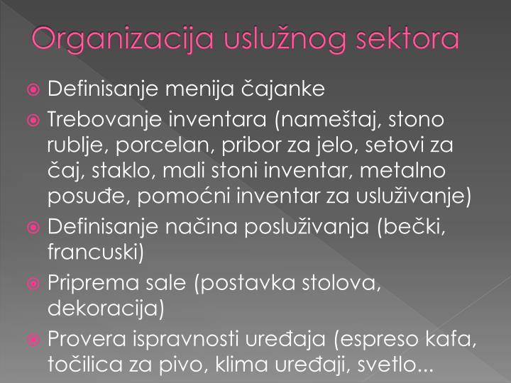 Organizacija uslužnog sektora