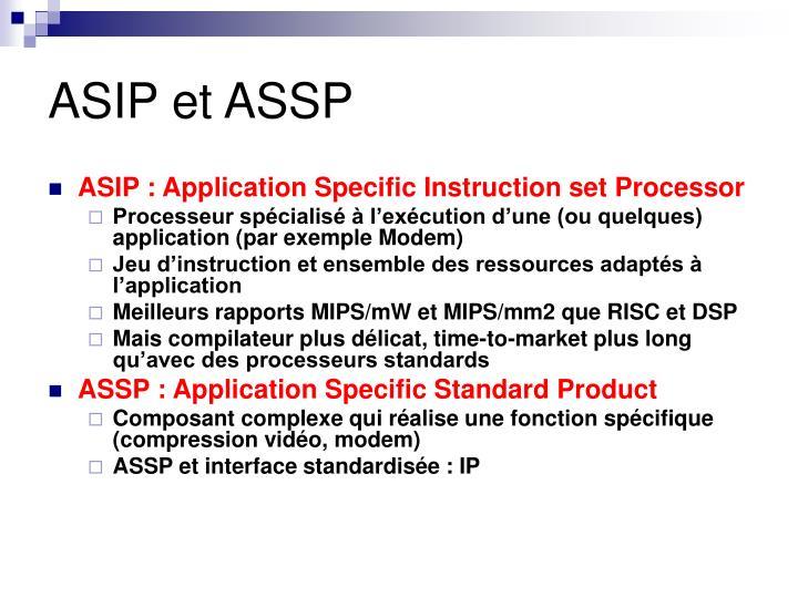 ASIP et ASSP
