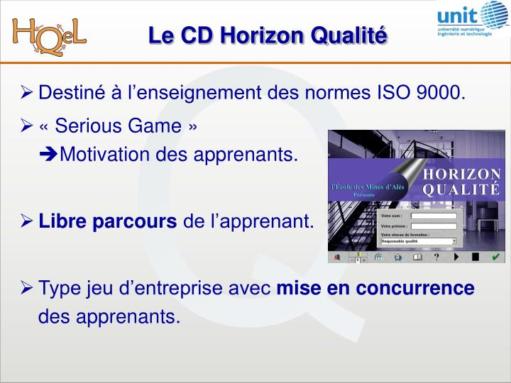 Le cd horizon qualit