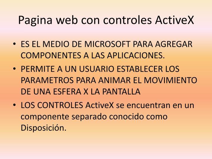 Pagina web con controles ActiveX