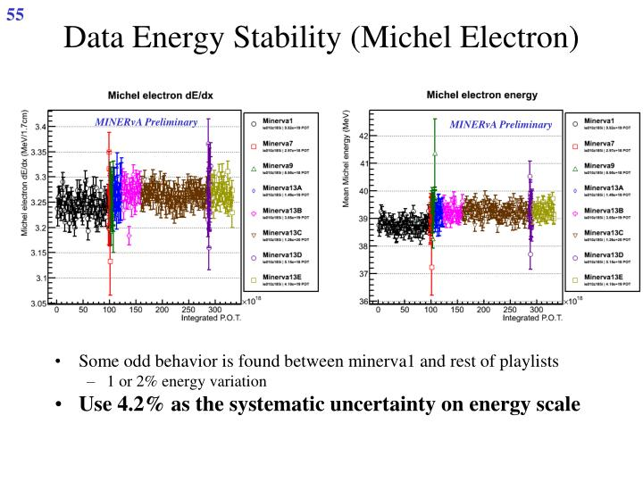 Data Energy Stability (Michel Electron)
