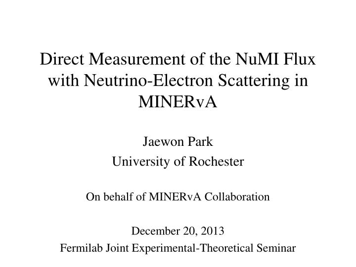 Direct measurement of the numi flux with neutrino electron scattering in minerva