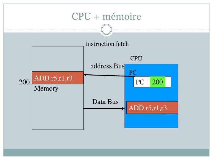 CPU + mémoire
