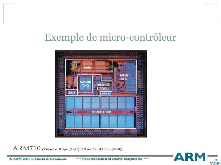 Exemple de micro-contrôleur