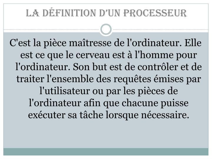 La définition d'un processeur