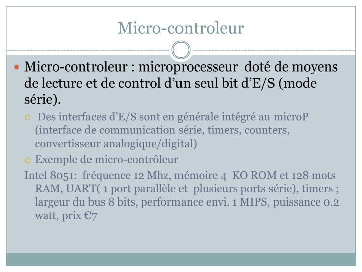 Micro-controleur