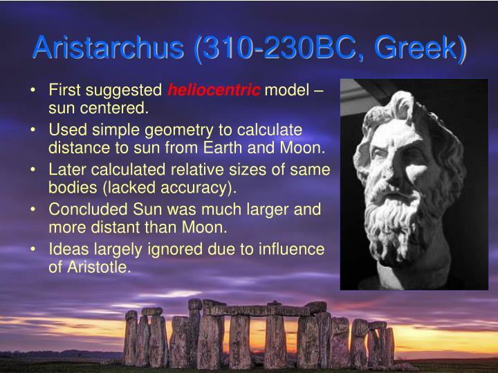 Aristarchus (310-230BC, Greek)