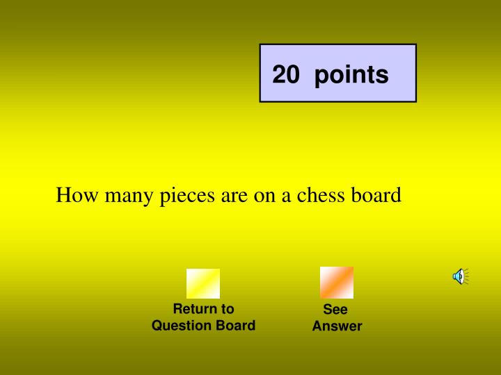 How many pieces are on a chess board