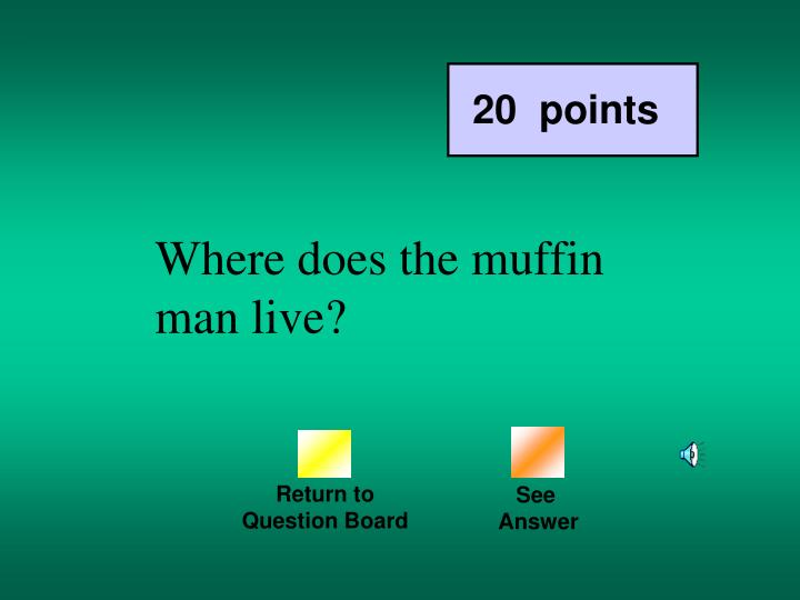 Where does the muffin man live?