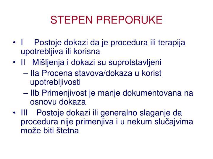 STEPEN PREPORUKE
