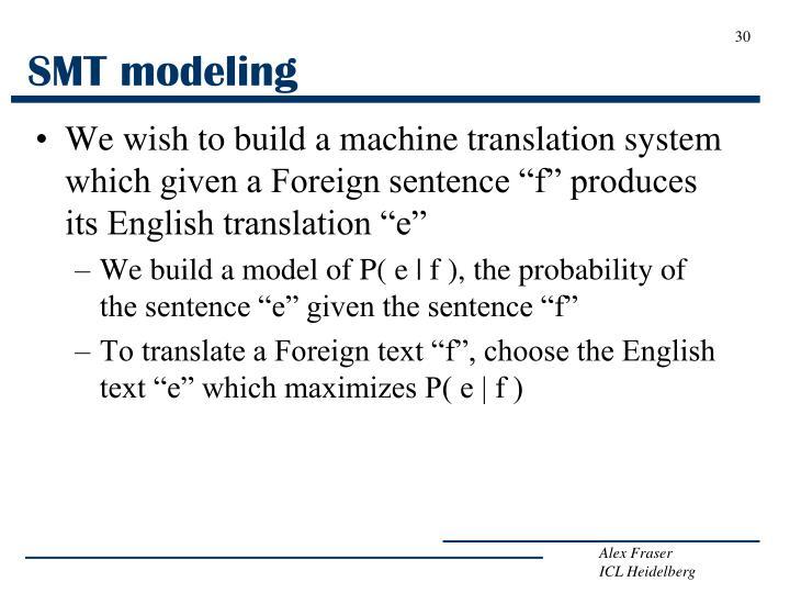 SMT modeling