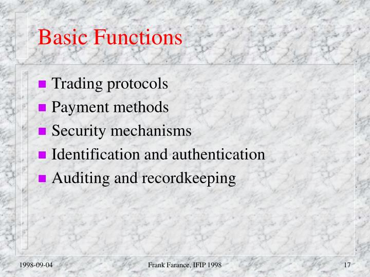 Basic Functions